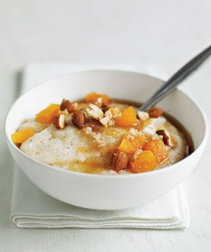 Farina With Apricots and Almonds recipe from realsimple.com #myplate #protein #fruit