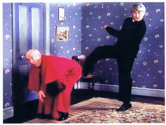 Kicking Bishop Brennan by Sakurako Kitsa, via Flickr Father Ted is one of the funniest, no THE funniest sit com!