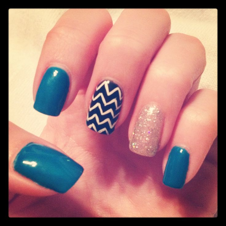 Print Zigzag Designs For Nails