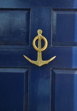 Anchor Door KnockerAnchors, The Doors, Door Knockers, Blue Doors, Front Doors, Knock Knock, Beaches Houses, Doors Colors, Doors Knockers