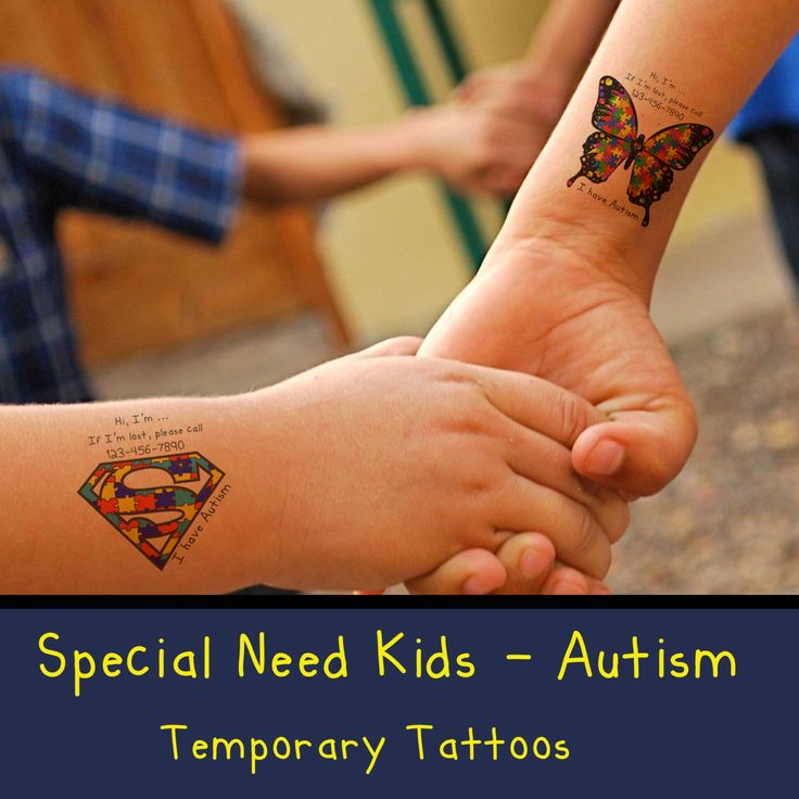 16 best autism tattoos images on pinterest autism for Temporary tattoos kids