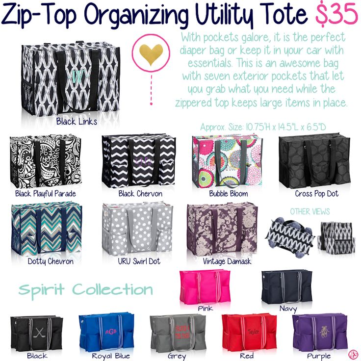 Zip-Top Organizing Utility Tote By Thirty-One. Fall/Winter