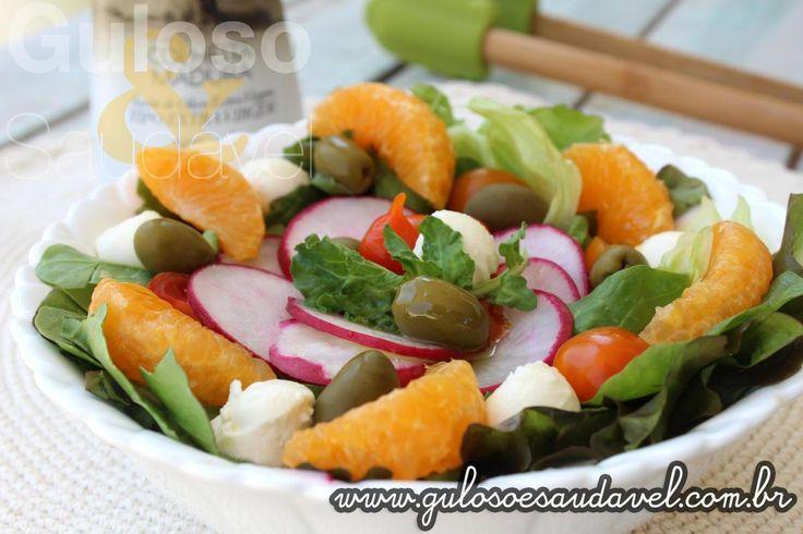 Receita de Salada de Folhas Verdes com Tangerina