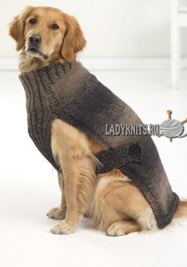 """Вязаный спицами свитер для сабачки """"Городской охотник"""""""