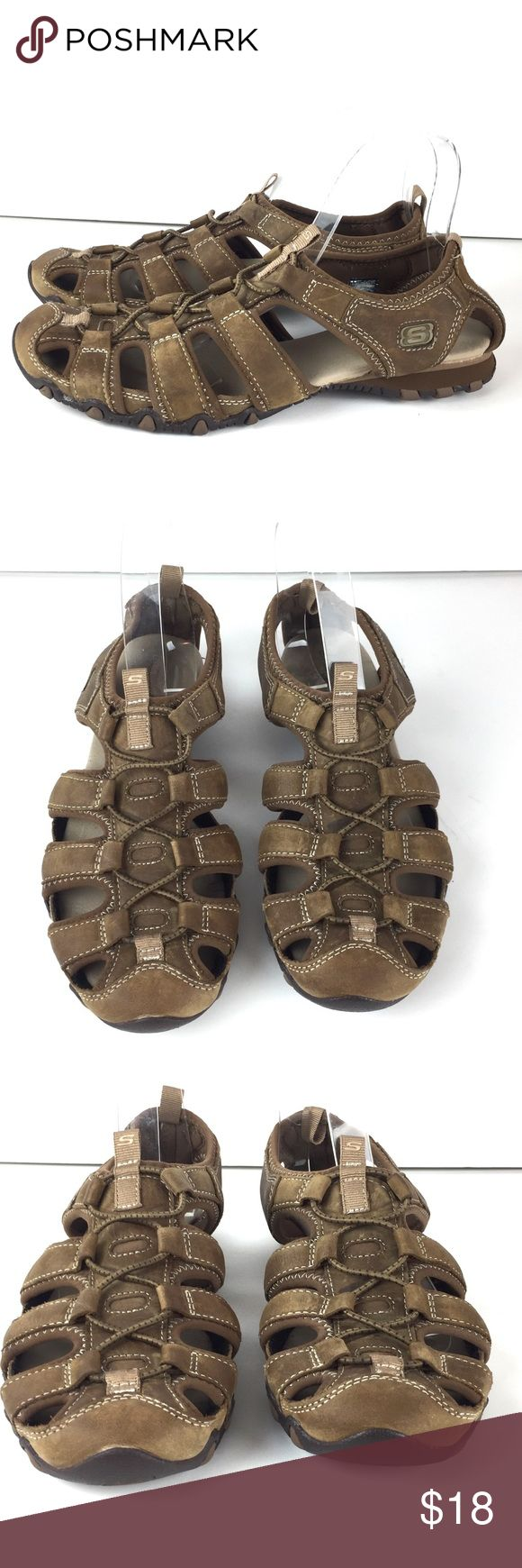 """Skechers Bikers Excursion Shoes Sport Sandal 10 Skechers Bikers Excursion Shoes  Sport Hiking sandals, Water-shoes  Women's size 10 Heel to toe approx 10"""" Heel is flat Nice preowned condition Skechers Shoes Sandals"""