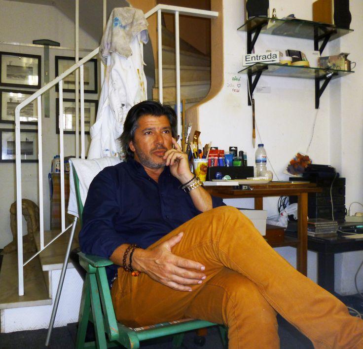 João Feijó in studio..