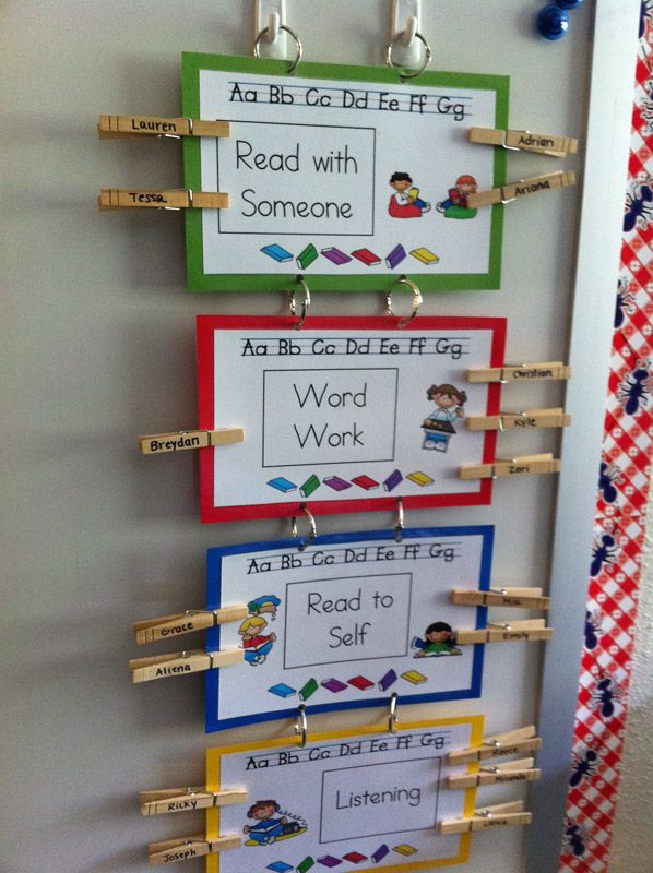 Daily 5. A different way for students to mark their centers
