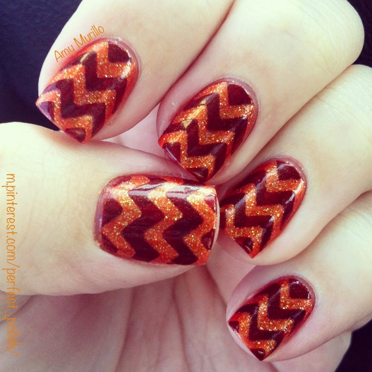 To all the Virginia Tech girls: you're welcome.  (What's not to love - chevron AND Hokie?!)