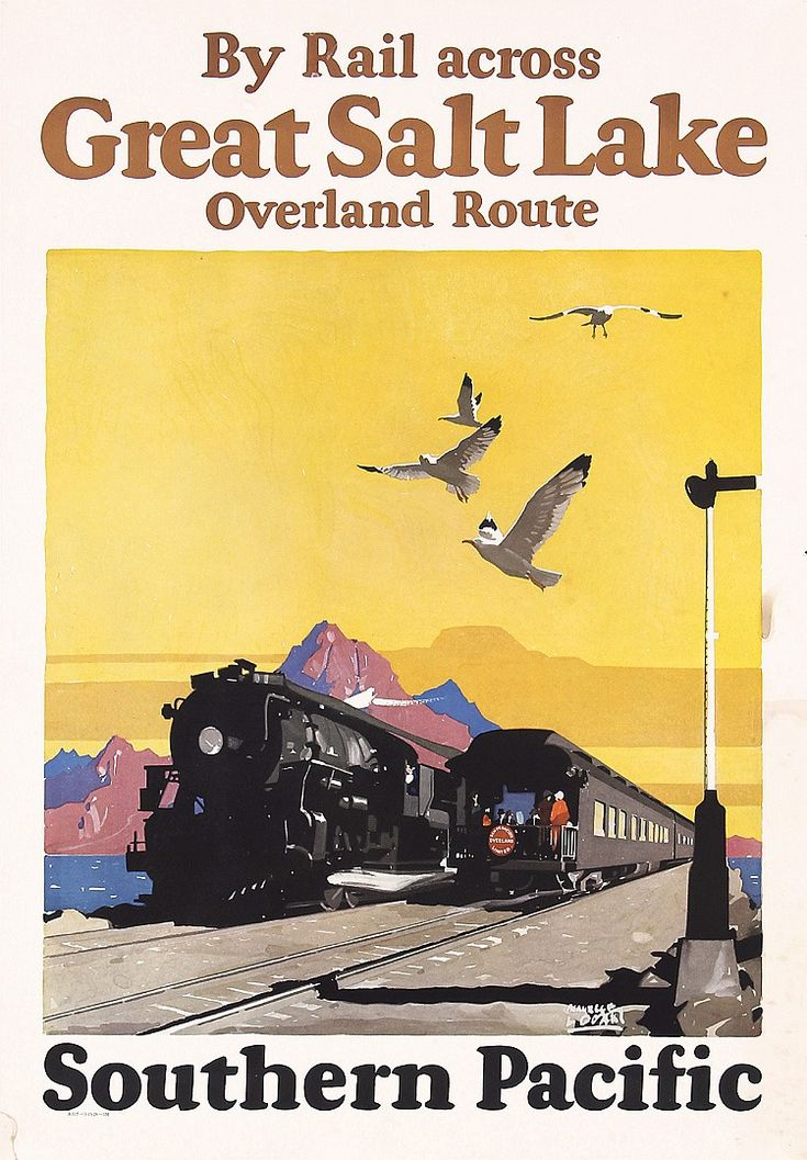 723 best vintage railroad travel posters images on for Vintage train posters