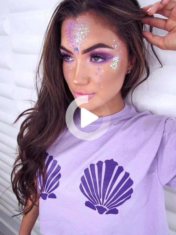 Glitter Mermaid Costume Makeup Face Makeup Kit Glitter