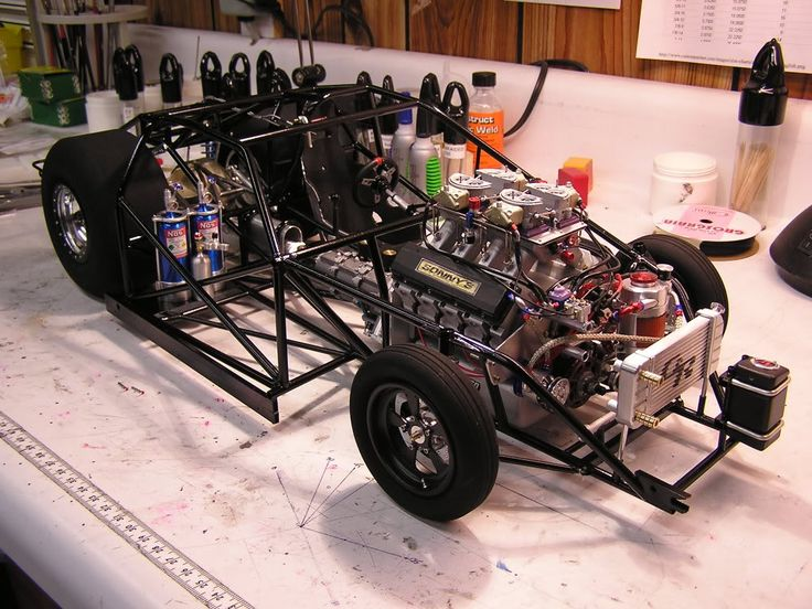 Rc Slot Drag Racing Car