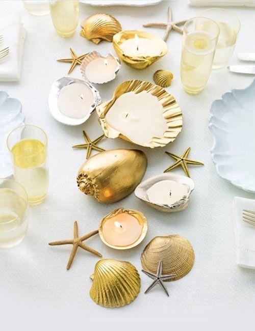 Teelichter aus Muschelschalen