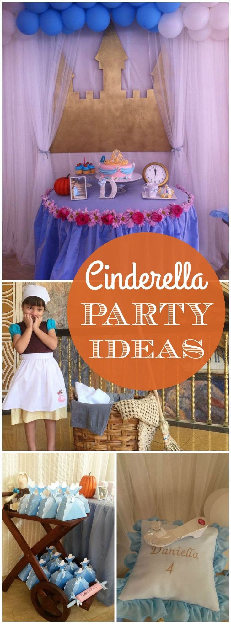 How amazing is this real life Cinderella birthday party?! See more party ideas at CatchMyParty.com!