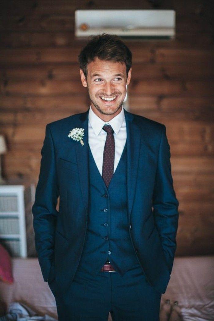 Matrimonio Elegante Uomo : Proposta elegante abito matrimonio uomo completo blu panciotto