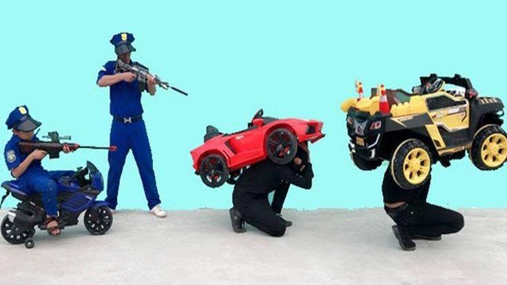 Ladrao Carro Brinquedo Disney Criança Polícia correr atrás bebê Luta Mot...