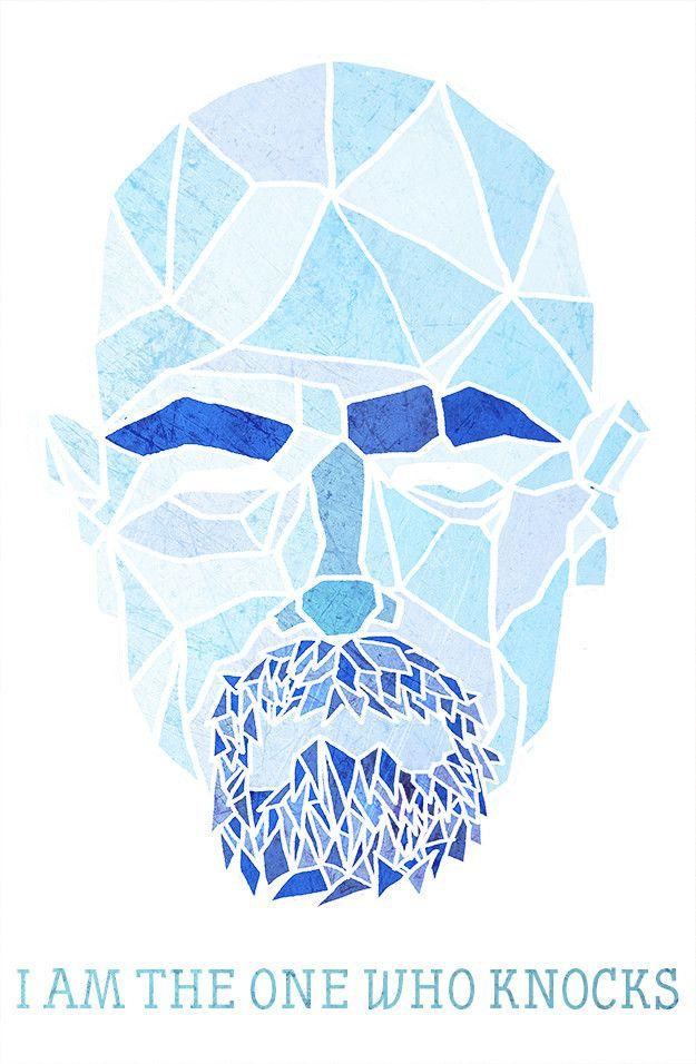 Walter White Geometric Illustration. Breaking Bad.