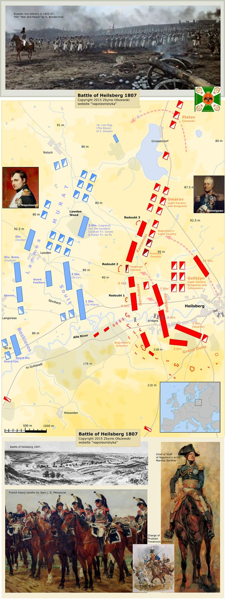 Article and more maps here: mapswar2.x10host.com/Battle_of_Heilsberg_1807.htm