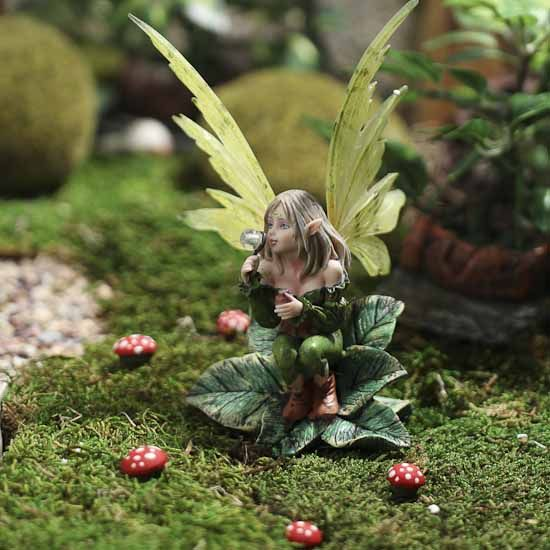 Exceptional Enchanting Pixie Fairy Garden Figurine   Table And Shelf Sitters   Home  Decor