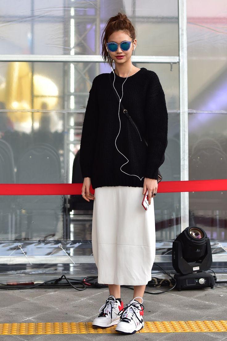 "koreanmodel: ""Street style: Jung Ho Yeon shot by Baek Sung Won at Seoul Fashion Week Fall 2015 """