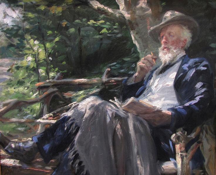 Holger Drachman, Danish writer, painted by P.S. Krøyer.