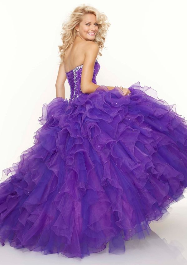 Beautiful purple ruffle dress