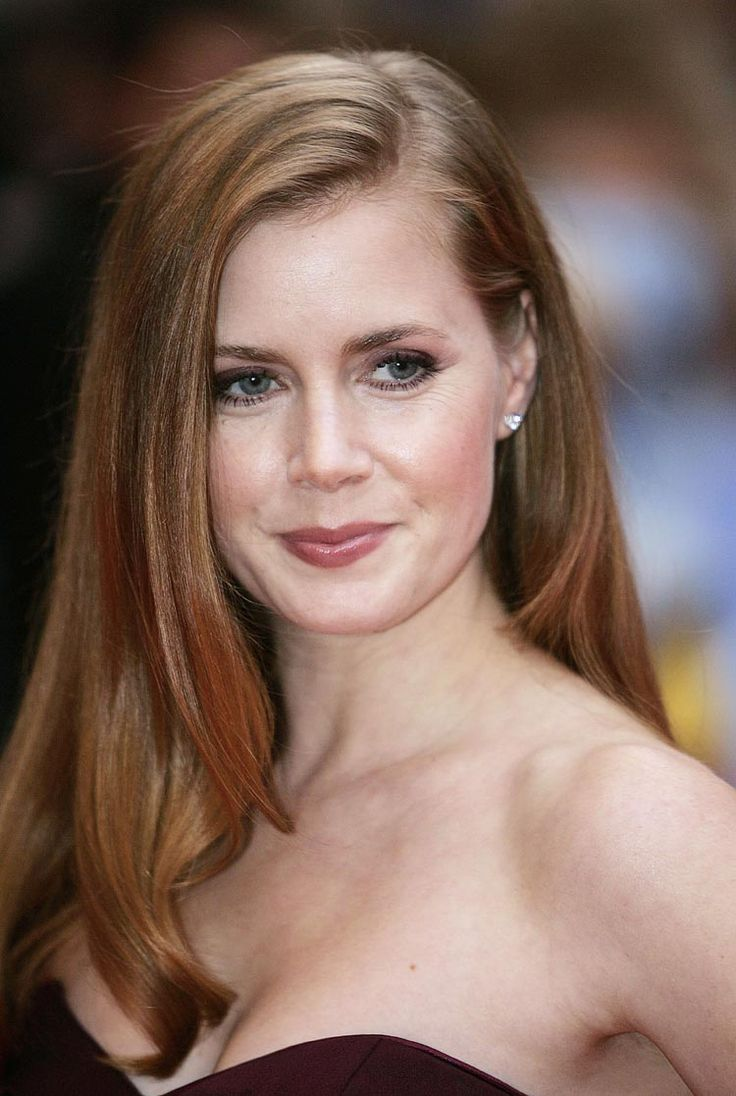 Amy Adams has a warm red/copper tone which is the color of the season.