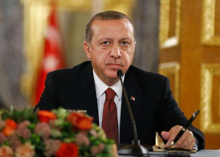 Erdogan langer ut mot Iraks ledelse: President Recep Tayyip Erdogan avviser tvert kravet om å trekke tyrkiske styrker ut av nabolandet Irak. Foto: Reuters / NTB scanpix