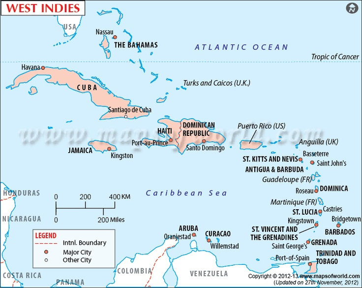The 124 best mapas images on pinterest maps cards and destinations westindies map showing the west indies island countries in the caribbean sea gumiabroncs Images