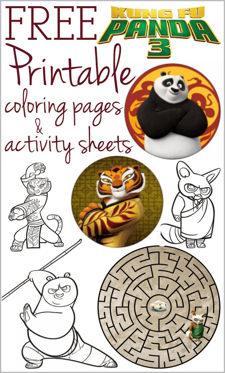 Kung Fu Panda 3 Printable Coloring