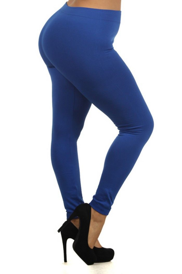 Royal Blue Leggings Plus Size
