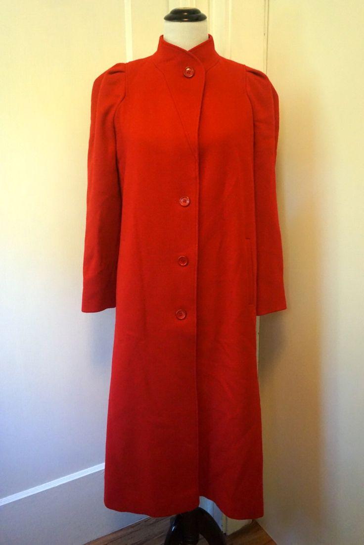 Vintage Jill Jr. Red Trench Coat / 1970s Women's Jacket / Winter Coat by VintageHalfPint on Etsy