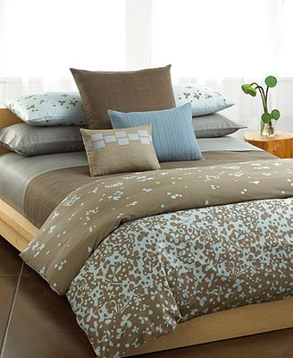 CLOSEOUT! Calvin Klein Cut Flowers Comforter and Duvet Cover Sets