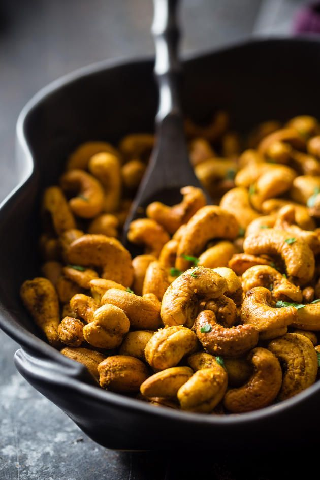 Thai Curry Cashews are just what you need for those in-between meal hunger pangs. Fantastic!