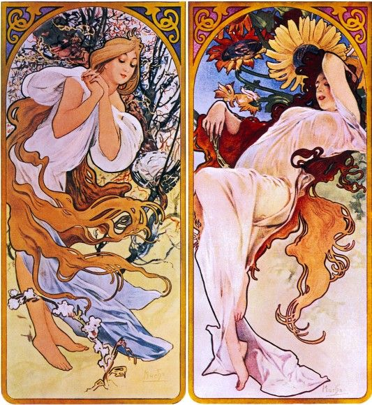 vintage, retro, art nouveau, art, arts
