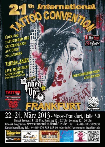 Frankfurt: vom 22.-24. März der Nabel der Tattoo-Welt zumindest in Europa!