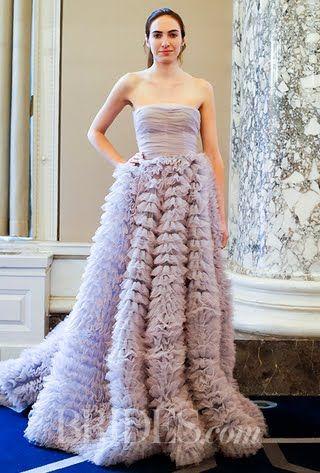 Luisa Beccaria Wedding Dresses - Spring 2016 - Bridal Runway Shows - Brides.com : Brides.com