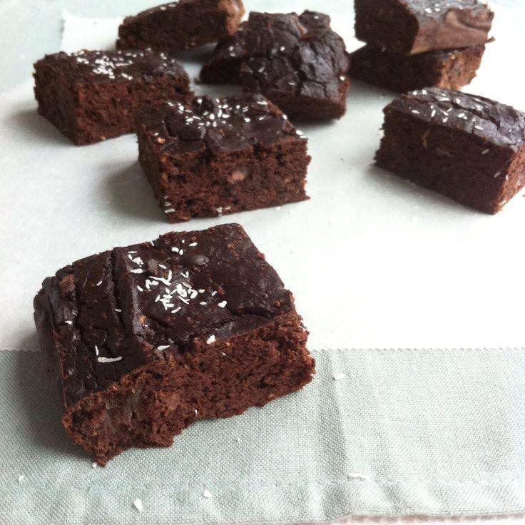 Brownies van zwarte bonen. Mijn favoriet