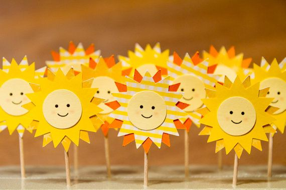 SALE You are my Sunshine Cupcake / Sandwich by FestivaPartyDesign