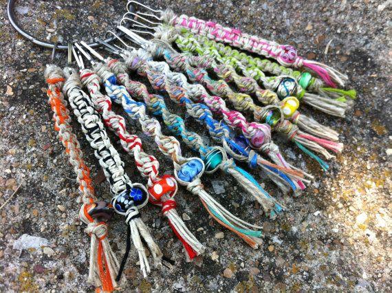 12 assorted macrame keychains hemp keychain key by JTPJewelryShop, $35.00