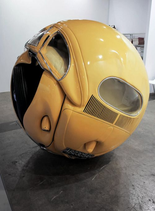 1953 VW Beetle sculpture by Ichwan Noor #sculpture