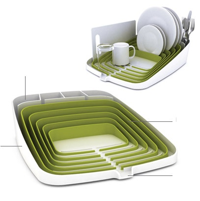 I don't wash my dishes by hand but this makes me want to. Also, perfect organizer for an Airstream kitchen.