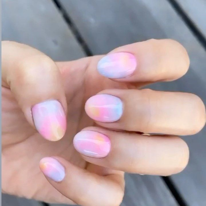 Tie Dye Nails In 2020 Tie Dye Nails Nail Art Designs Summer Nails