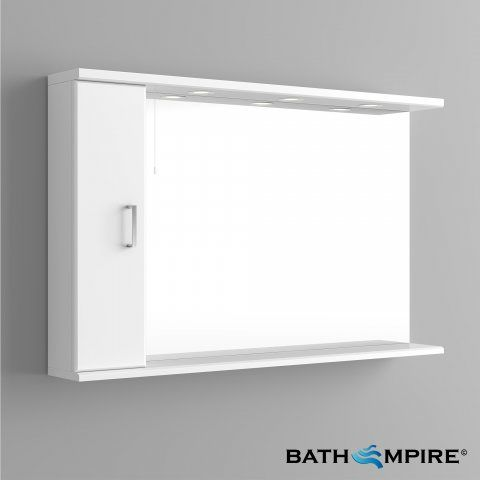 Quartz Gloss White Mirror Cabinet Light