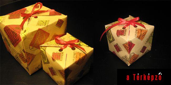 dobozka papírmaradékból