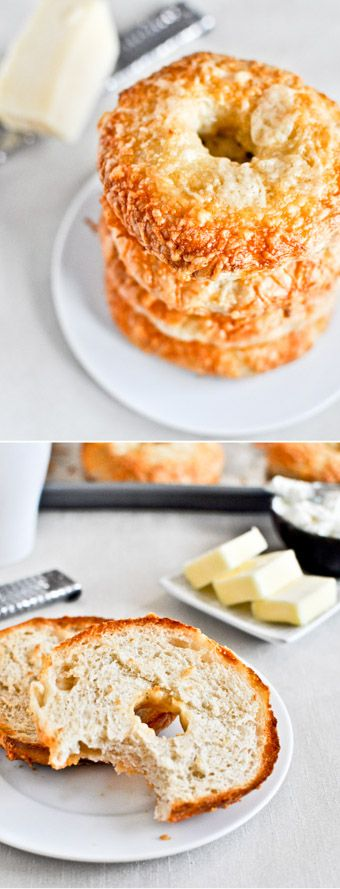 Homemade Asiago Cheese Bagels by @howsweeteats I howsweeteats.com