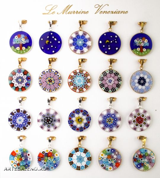 Millefiori Pendants - I have a collection of these that need chains..sigh…lol