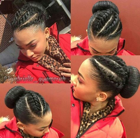 Flat Twist || Bun || Natural Hair