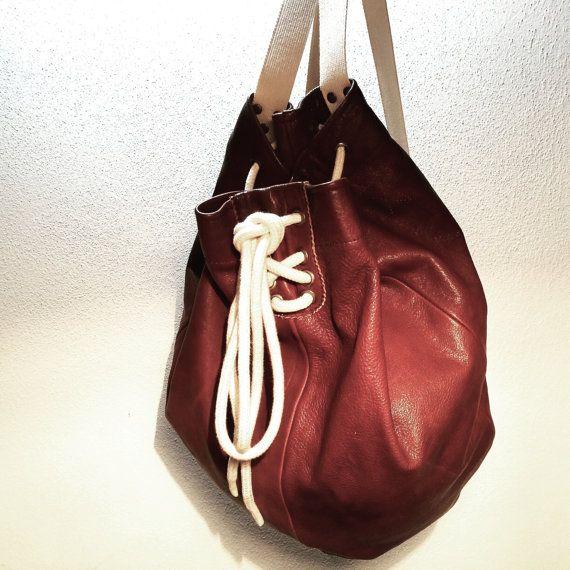 Boxe Leather Sack di MartinaMedail su Etsy