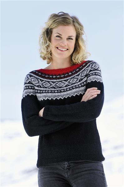 Tema 15: Modell 11 Marius-genser med rundt bærestykke #strikk #marius
