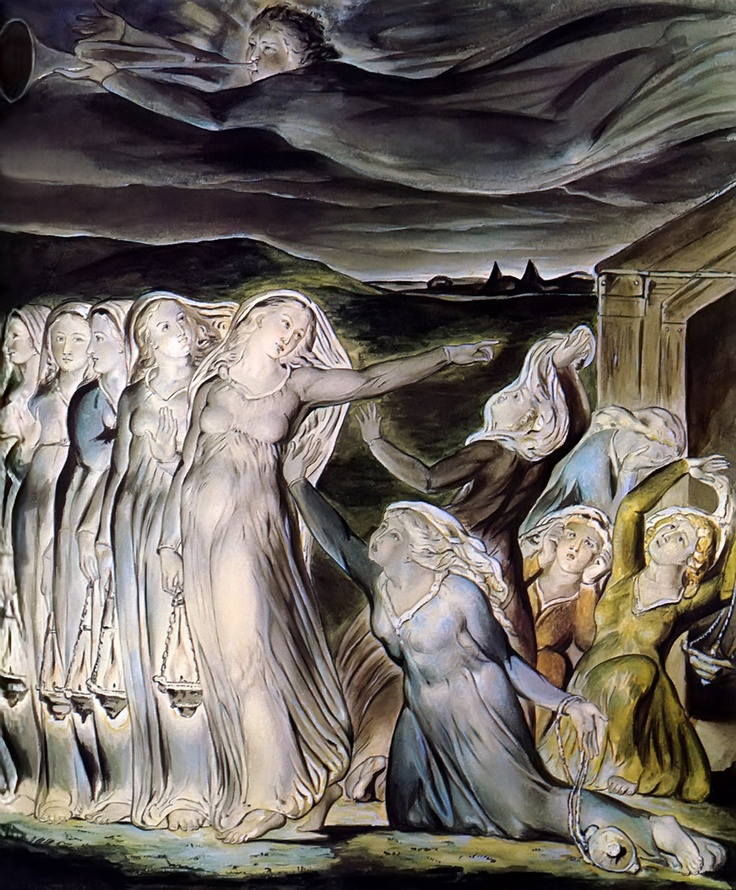 William Blake | The Parable of the Wise and Foolish Virgins, 1822